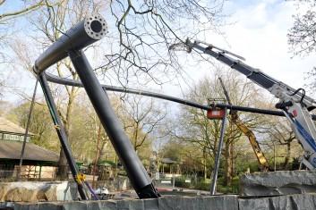 Beginn der Stahlbauarbeiten für das Jaguargehege Artis Royal Zoo Amsterdam
