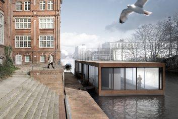 Hausboot im Südkanal Hamburg